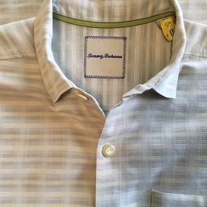 Tommy Bahama Silk & Cotton Short Sleeve Shirt Med